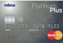 MBNA Platinum Plus(MBNA顶级白金卡) MasterCard: 获得一张价值$100的礼品卡-加拿大信用卡