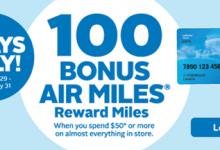 雷克索尔︰航空里程奖金100-加拿大信用卡