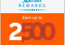 加拿大航空公司/Aeroplan:在加拿大入住万豪酒店可获得奖金2500英里-加拿大信用卡